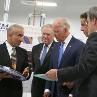 Joe Biden with SUNY Polytechnic's founding president and CEO Alain Kaloyeros
