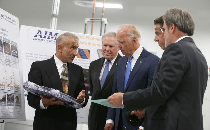 Joe Biden with SUNY Polytechnic's founding president and CEO Alain Kaloyeros